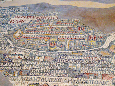 The Map of Madaba at the church of Saint George – Madaba