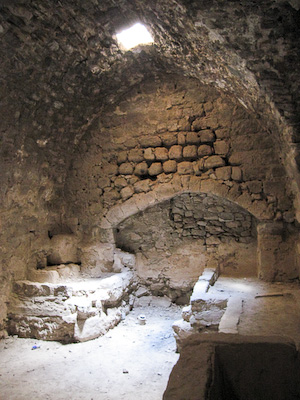 One end of the Kitchen at Karak Castle