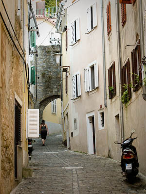 Narrow street in Piran