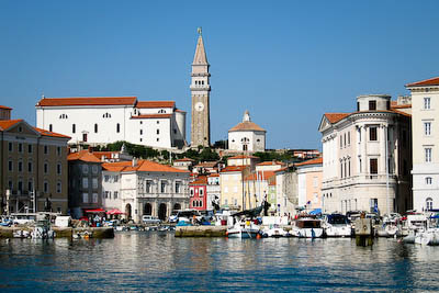 The harbour town of Piran